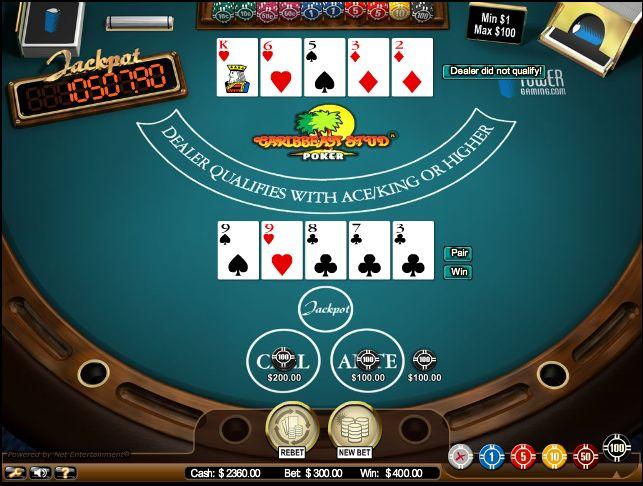Caribbean-Stud-poker-taisyklės