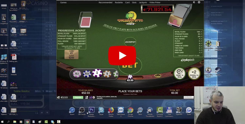 Caribbean stud pokerio taisyklės ir žaidimo strategija