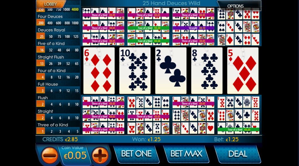 Video Poker 25 linijos