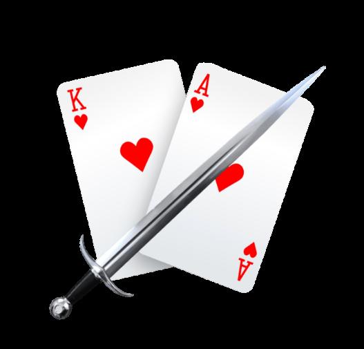 kazino žaidimas karas war king ace kardas tūzas