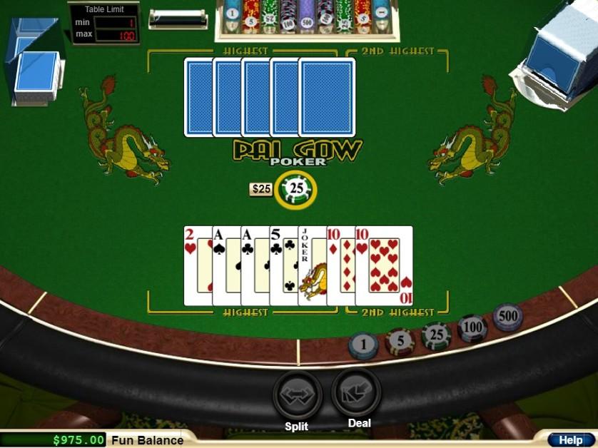 Pai Gow Pokeris