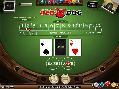 Red Dog Progressive card game