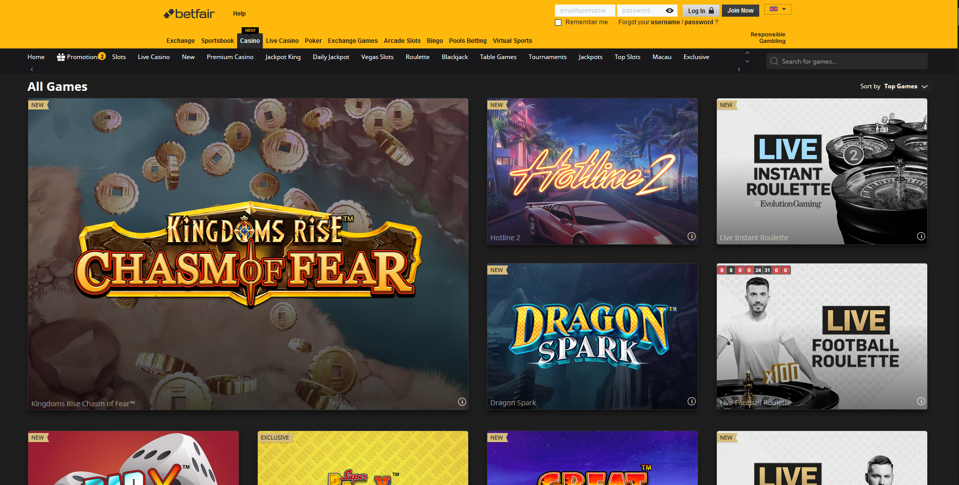 betfair kazino žaidimai games - kingdoms rise chasm of fear dragon spark live instant roulette