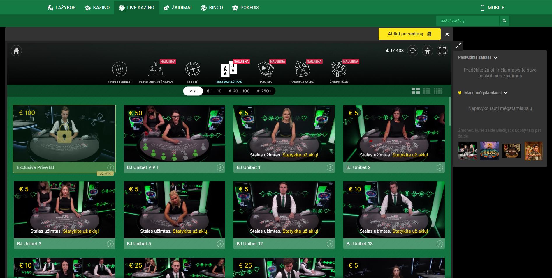 blackjack unibet evolution gaming live dealer - unibet live casino