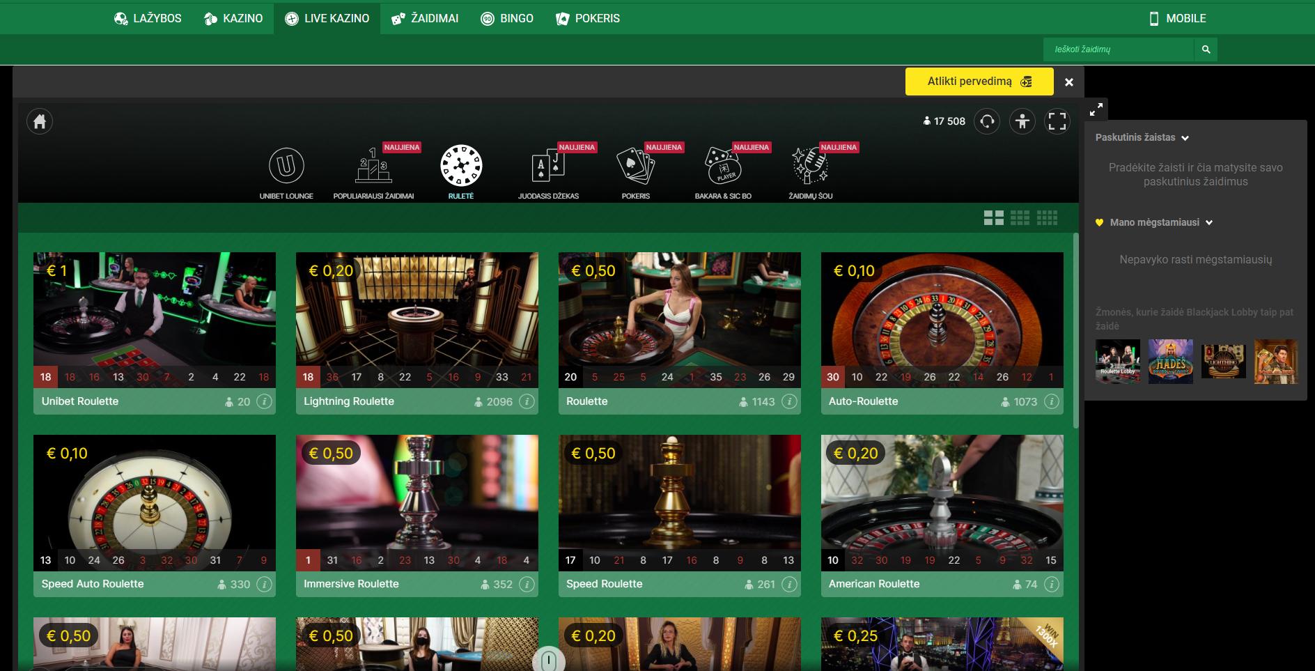 unibet roulette evolution gaming lightning roulette