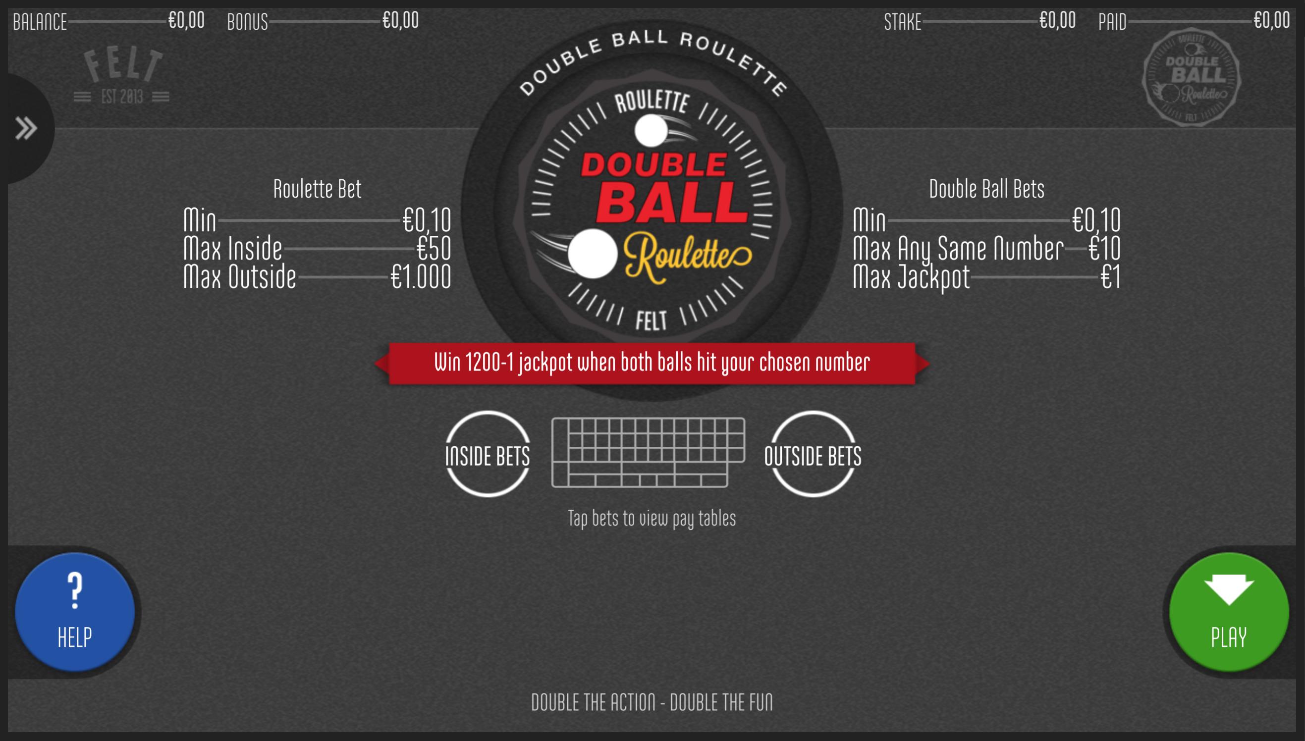 Dviejų kamuoliukų ruletės taisyklės