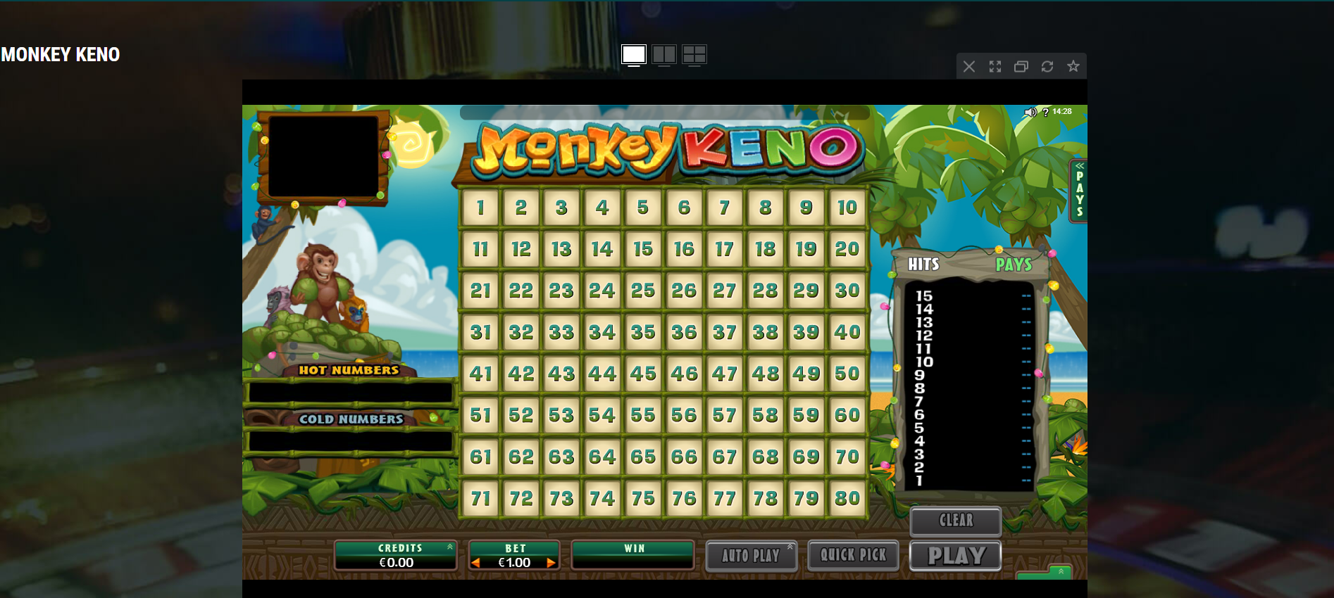 keno casino games - monkey keno casino game
