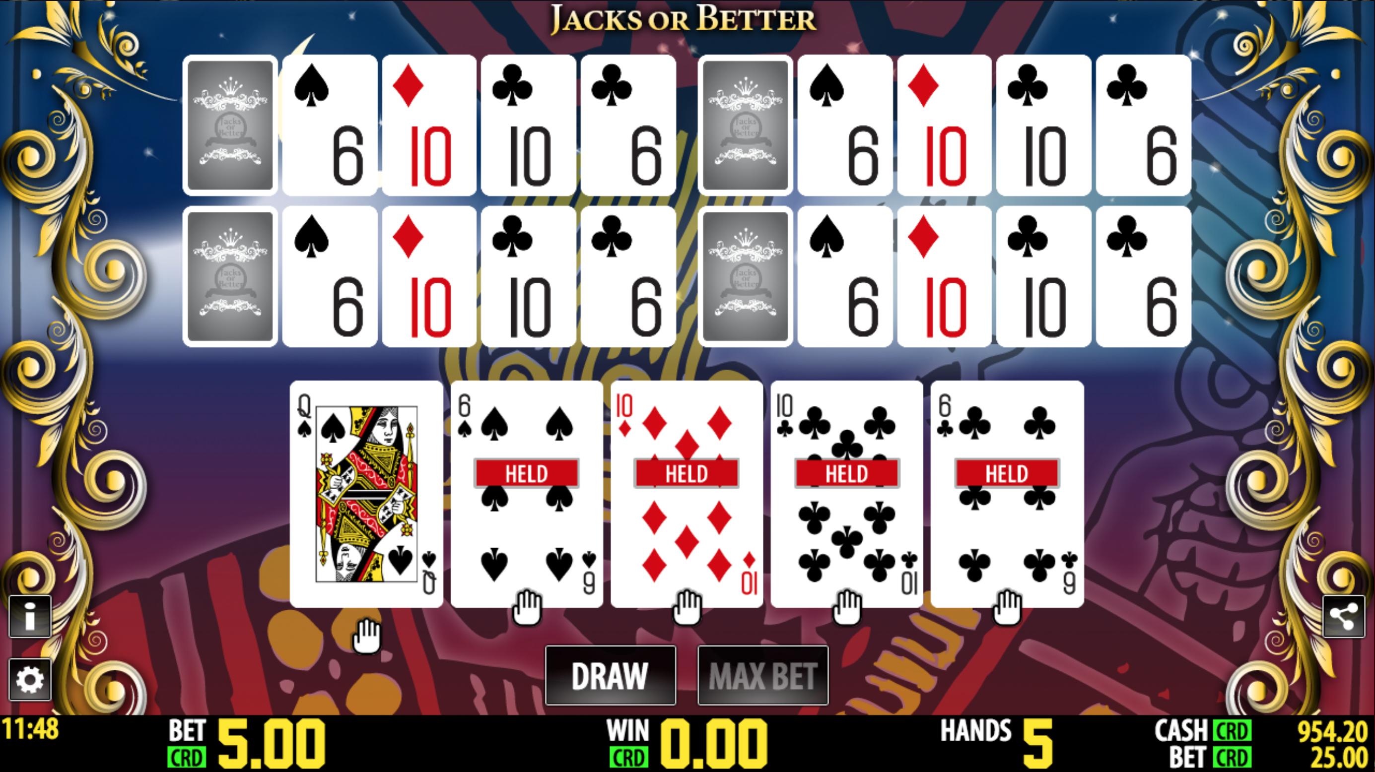 Jacks or better_video pokerio žaidimo taisyklės