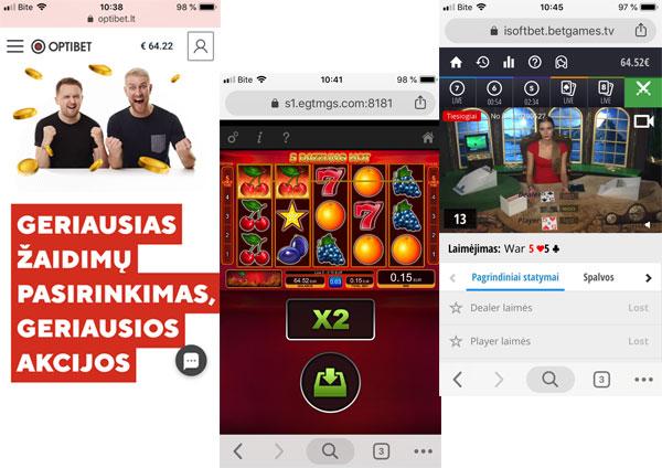 Optibet kazino atsiliepimai mobile casino