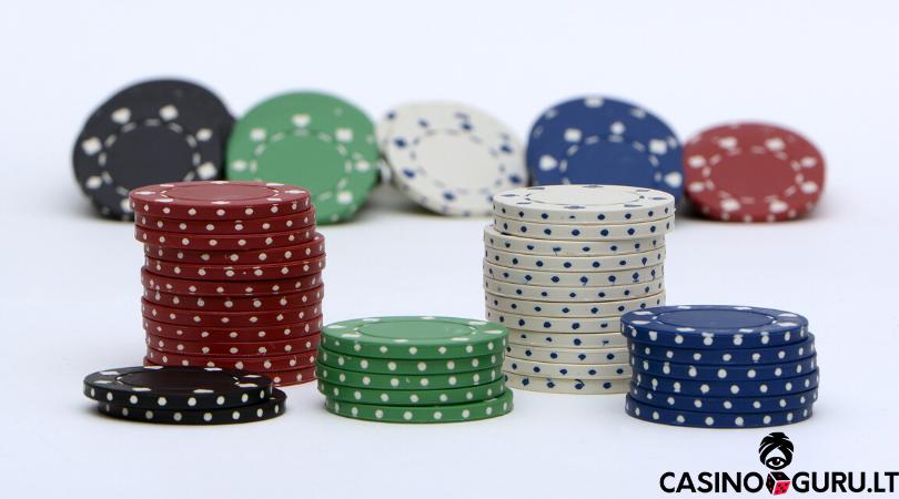 poker chips - statymu dydziai