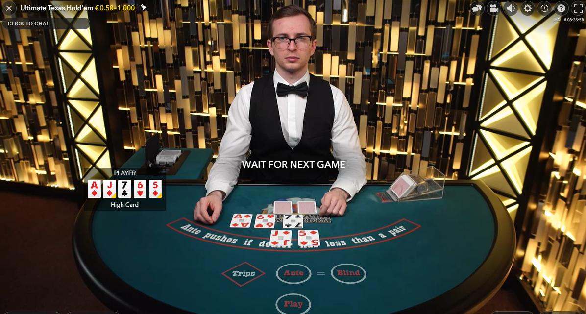 ultimate texas holdem - evolution gaming - ultimate poker online