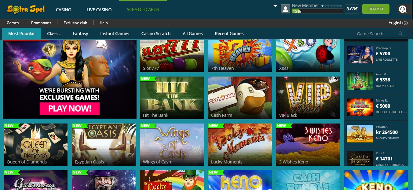 extraspel kazino