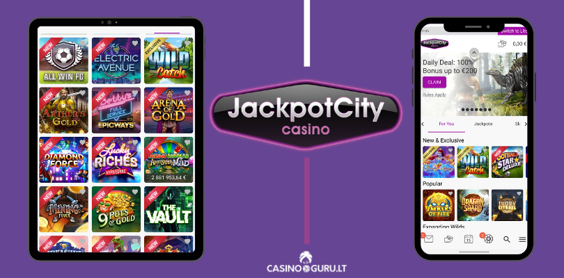 jackpot city casino mobile app - slots - promotions - all win fc the vault football star casinoguru