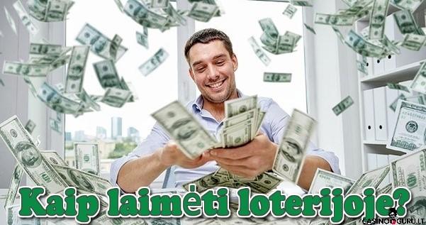kaip laimeti loterijoje - vyras su pinigais