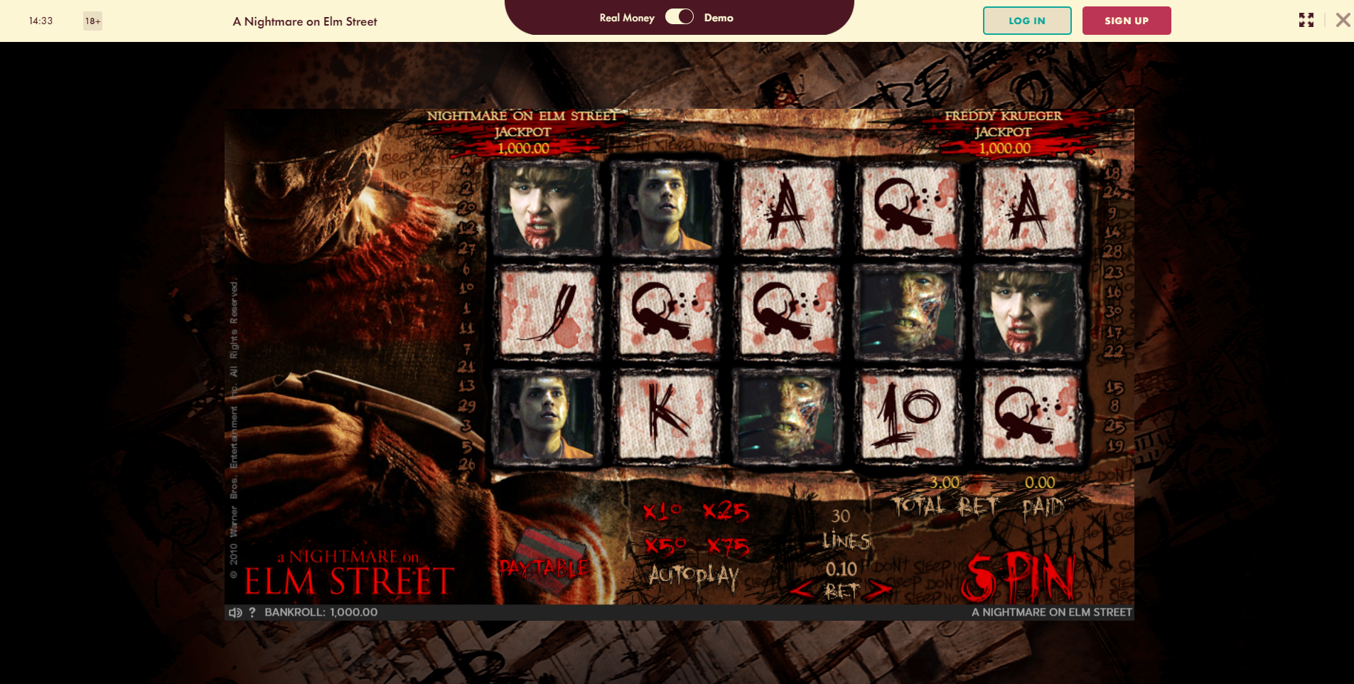 777 exclusive slots - nightmare on elm street slot