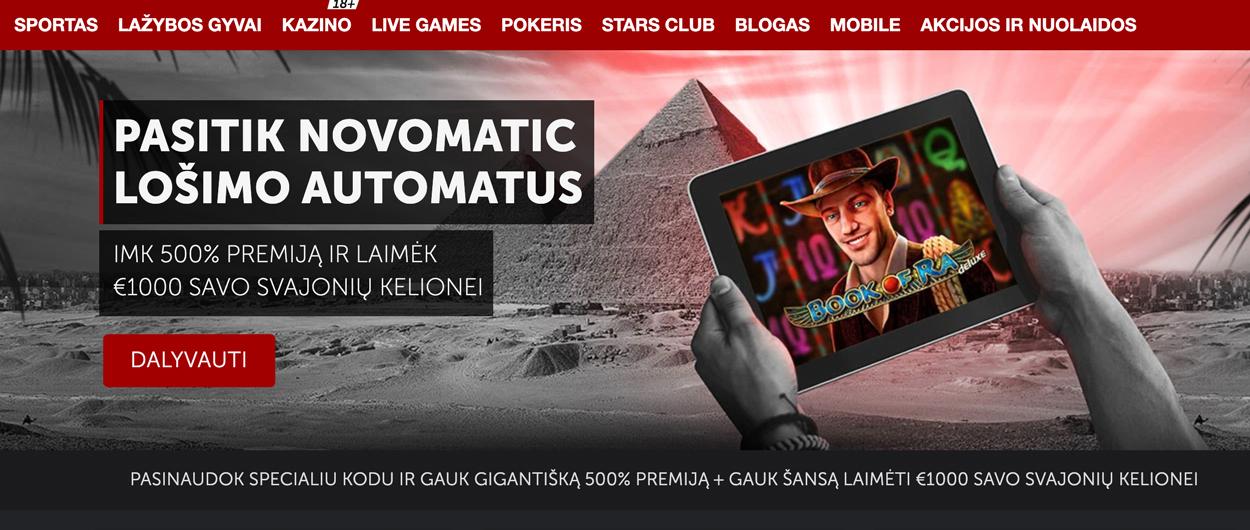 Betsafe-naujai Novomatic slotai-akcija-bonusas
