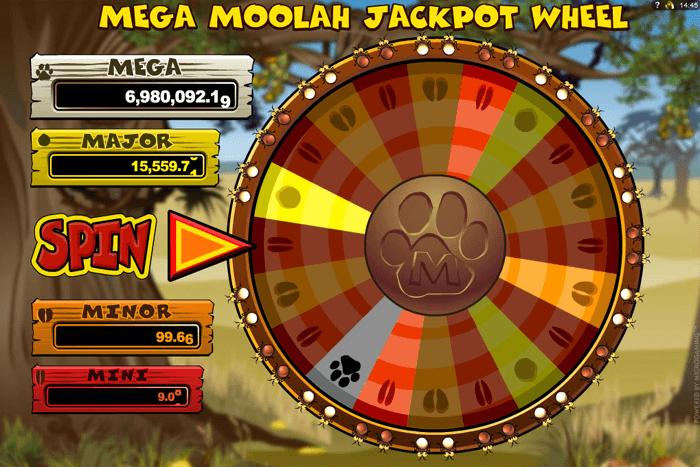 Lošimo automatas Megamoolah slot -Jackpot wheel