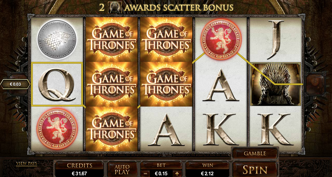 Lošimo automatas Game-of-Thrones-slot internete