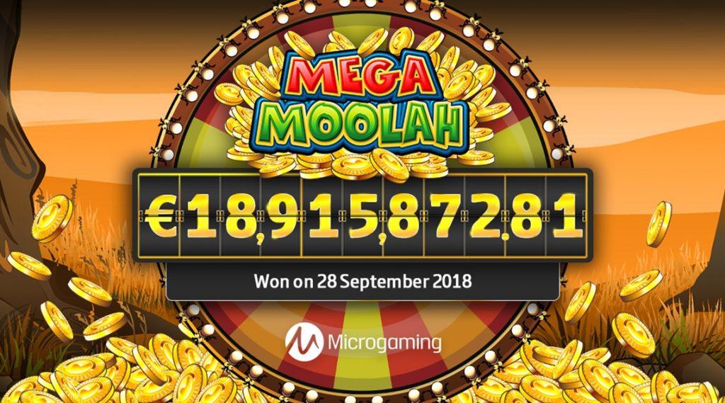 Lošimo automato Mega Moolah Jackpot 2018