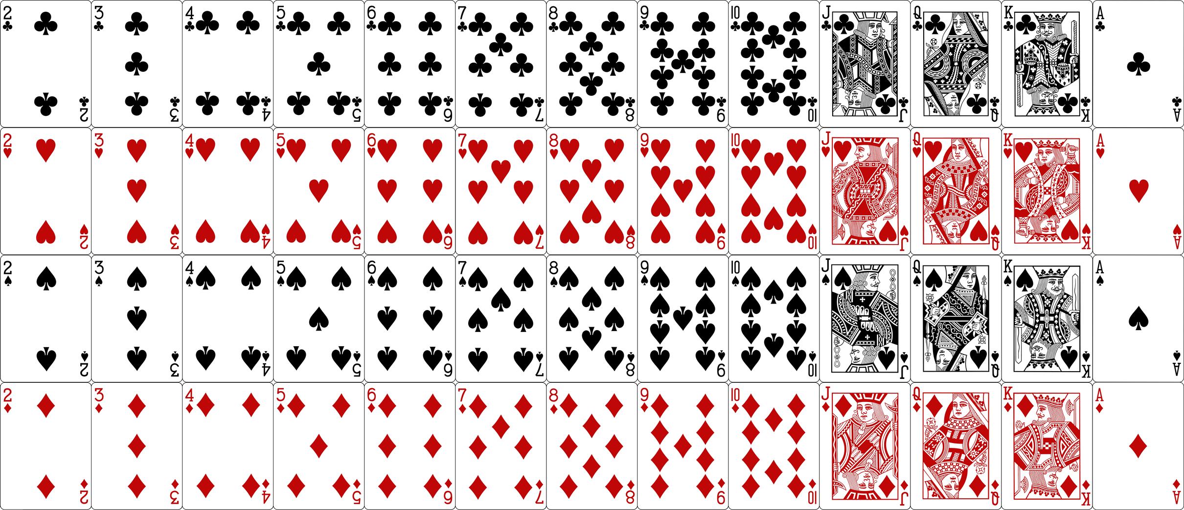 Kortų žaidimas Melagis _ 52 kortų kaladė arba malka