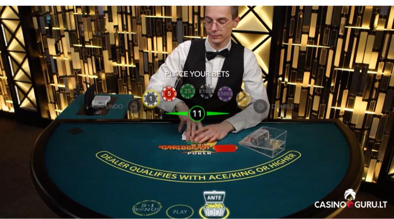live casino poker caribbean stud poker - rusiškas pokeris