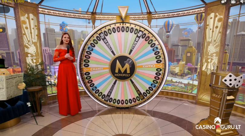 monopoly live casino game - monopoly live evolution gaming - money wheel - laimės ratas