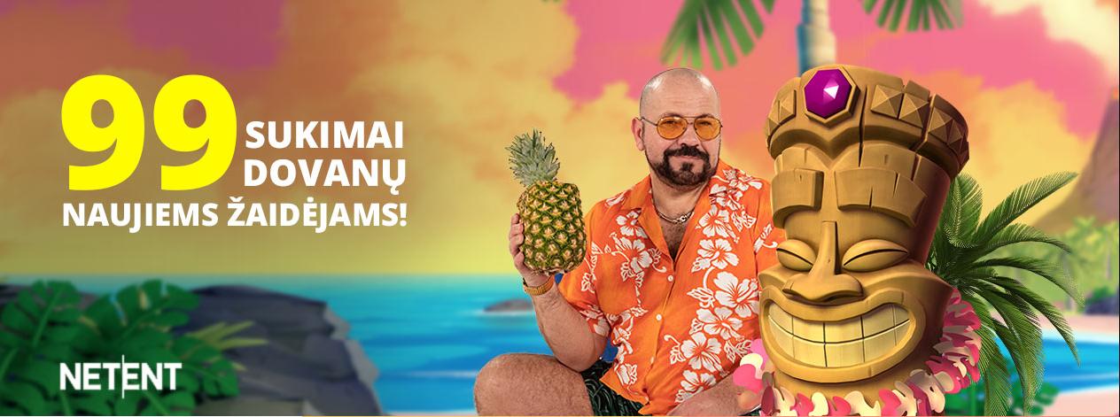 uniclubcasino akcijos - 99 nemokami sukimai aloha cluster pays netent palmė sala ananasas