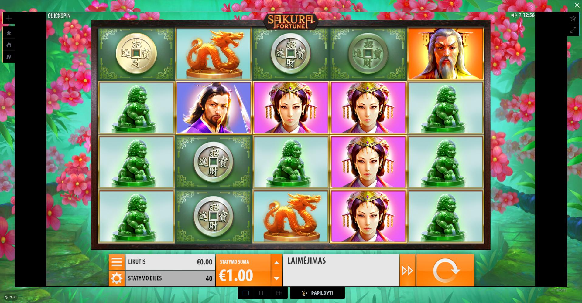 uniclub casino quickspin sakura fortune