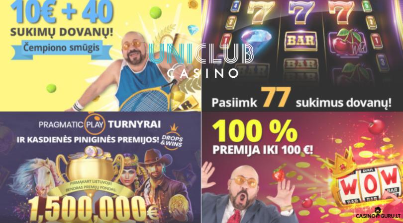 uniclubcasino akcijos - pragmatic play 100% bonus 777