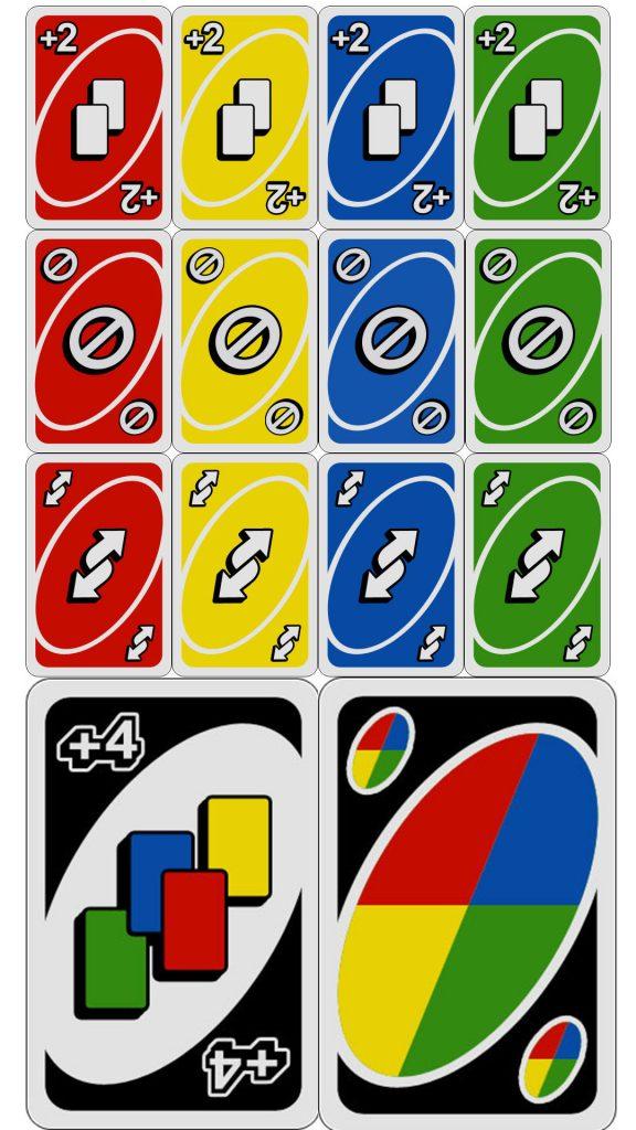 uno kortos pagal spalvas ir reikšmes - uno žaidimo taisyklės