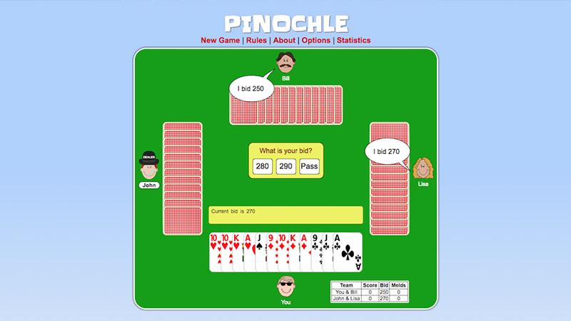 žaidimas pinochle online