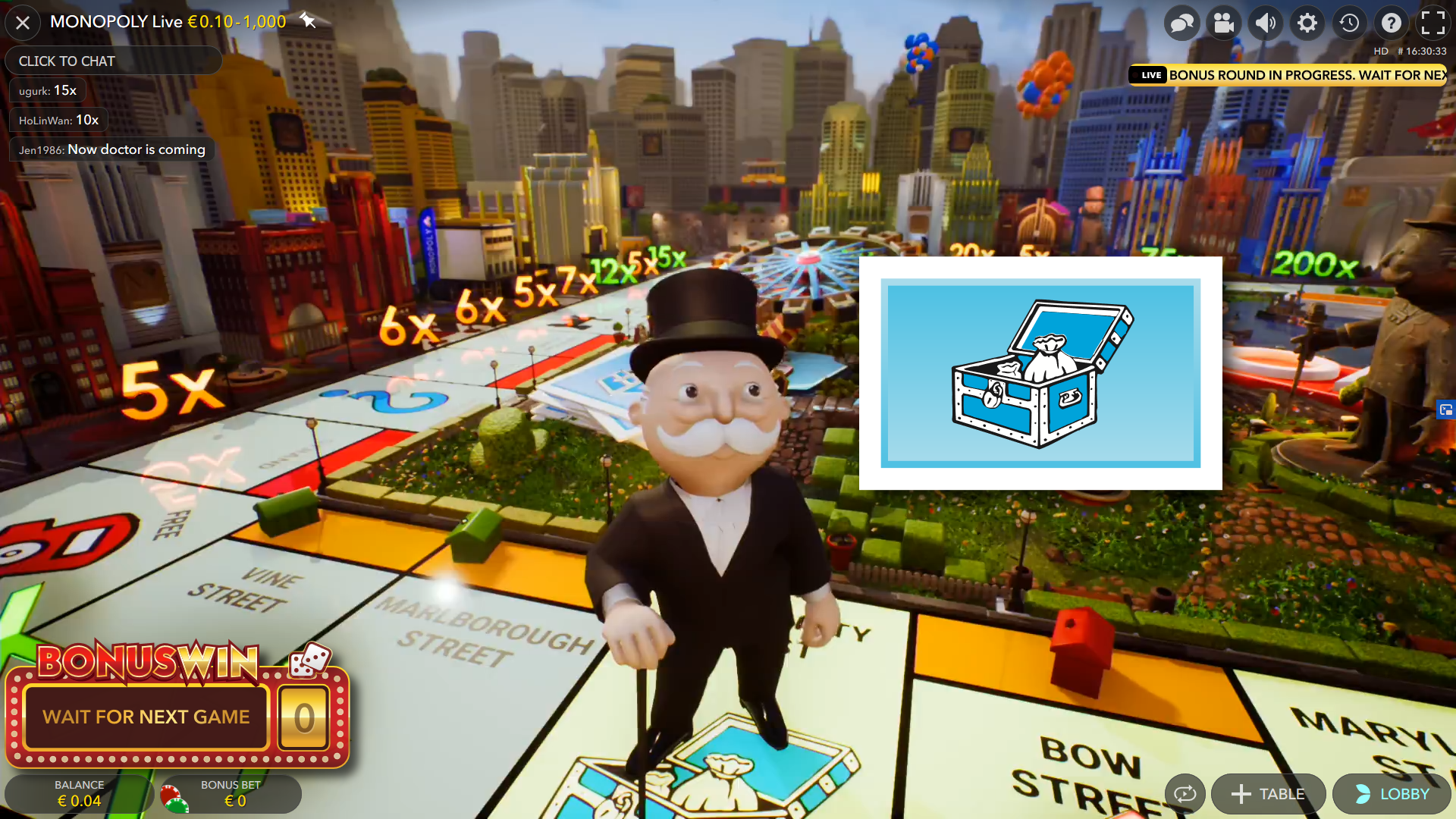 monopoly live bonus game - community chest