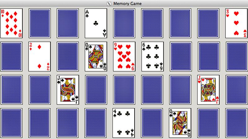paprastas kortų žaidimas atmintis