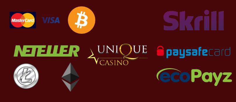 unique casino mokėjimo būdai - skrill neteller bitcoin ethereum mastercard