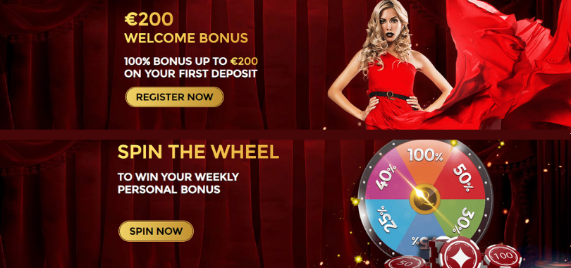unique casino premijos - 200€ welcome bonus spin the wheel