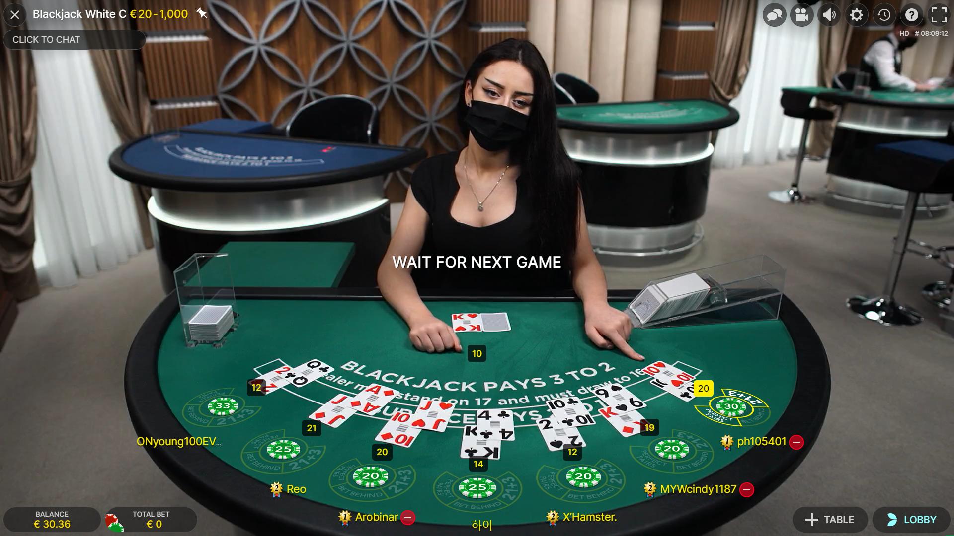 blackjack internetu evolution gaming dalintoja