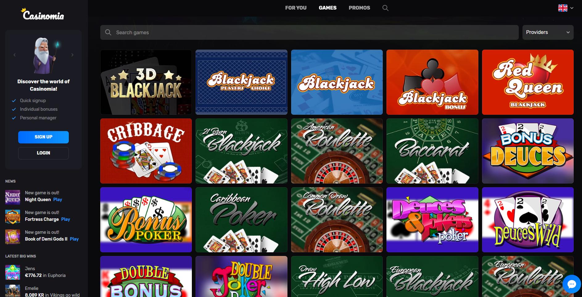 casinomia table games stalo žaidimai - blackjack baccarat roulette bonus poker caribbean poker deuces wild