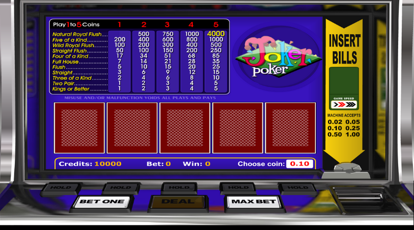 play video poker joker poker