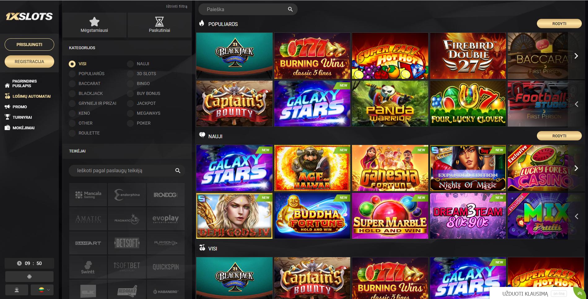 1xslots kazino žaidimai blackjack galaxy stars panda warrior 777 burning wins baccarat demi gods