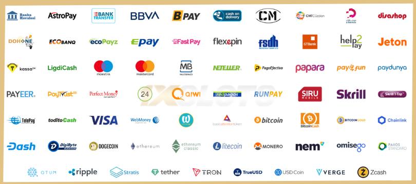 1xslots mokėjimo metodai skrill neteller visa mastercard webmoney kriptovaliutos bitcoin litecoin ethereum dash ripple tron verge