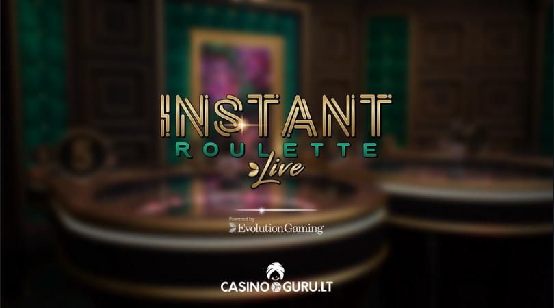 instant roulette live evolution gaming ruletės žaidimas casinoguru