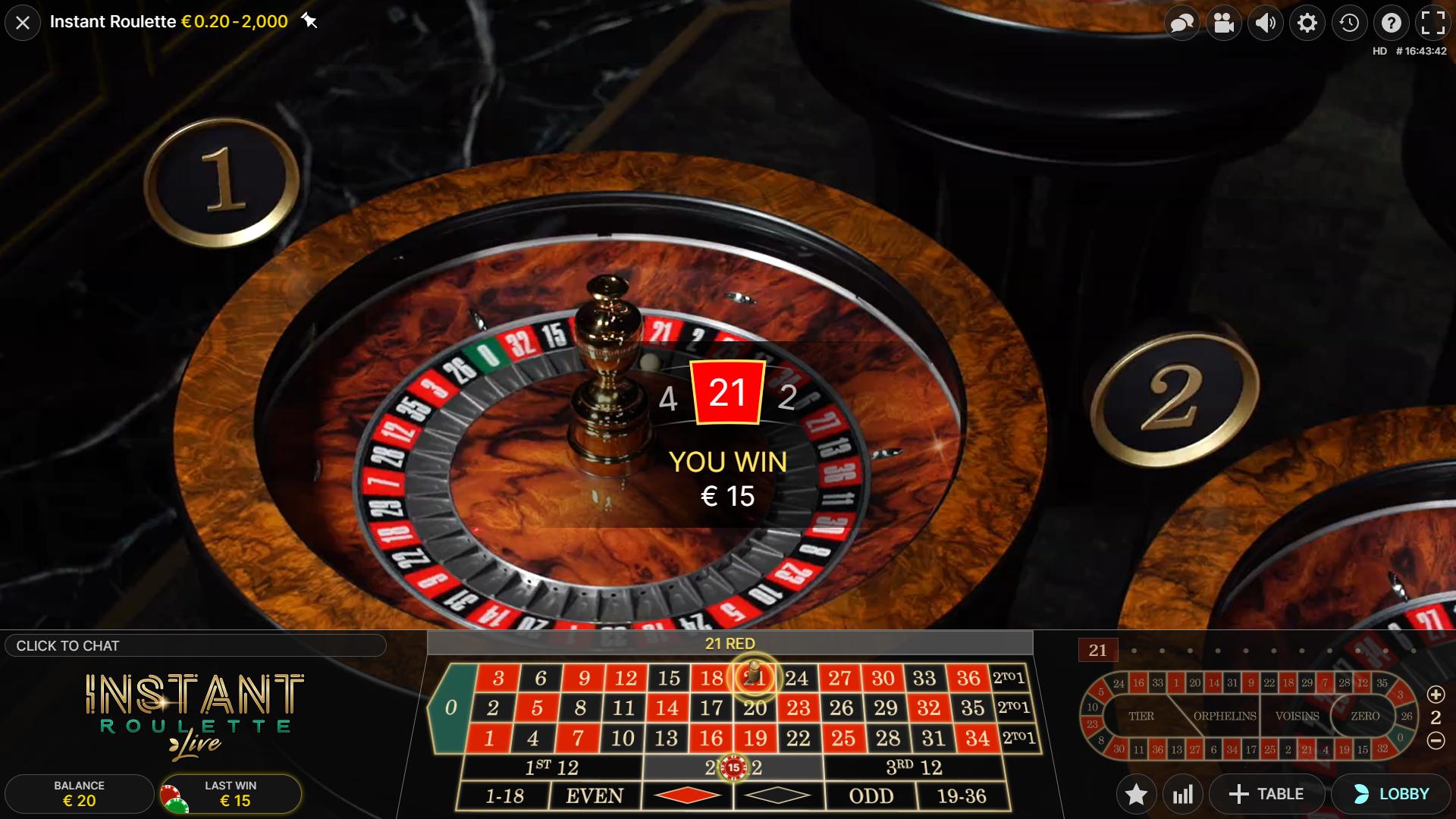 instant roulette sukimas laimėjimas 15€ raudonas laukelis