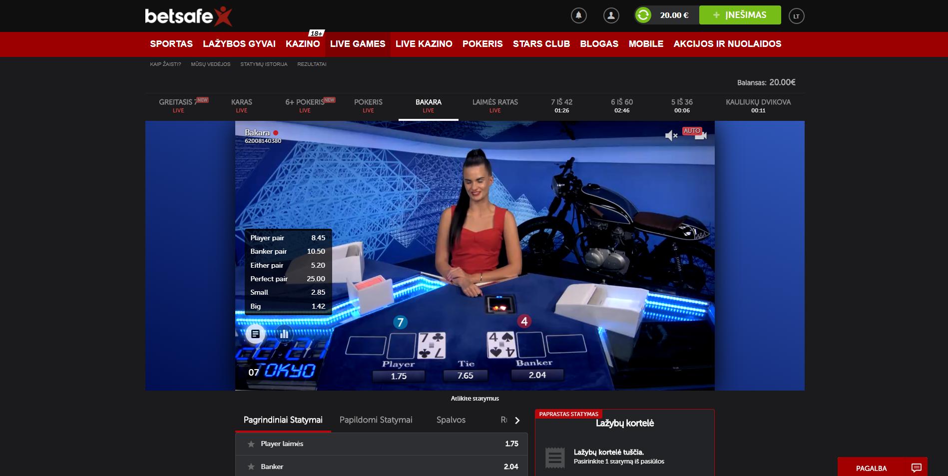 betsafe kazino betgames.tv bakara pokeris