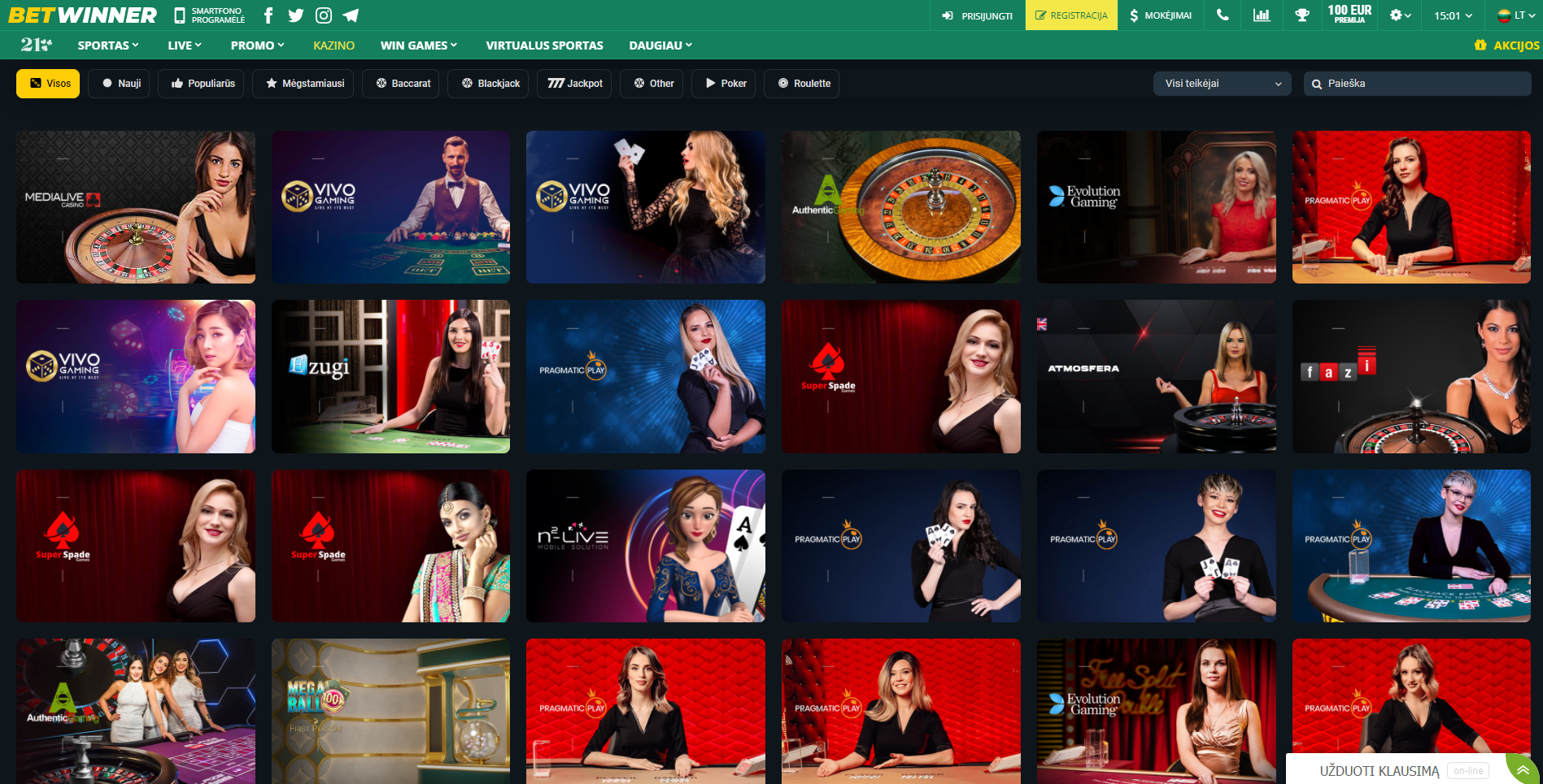 betwinner live casino live kazino vivo gaming evolution gaming authentic gaming ruletė blackjack