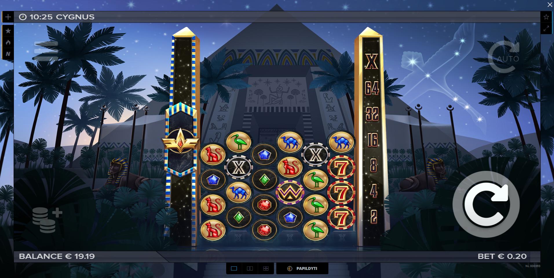 uniclub casino elk studios cygnus lošimo automatas
