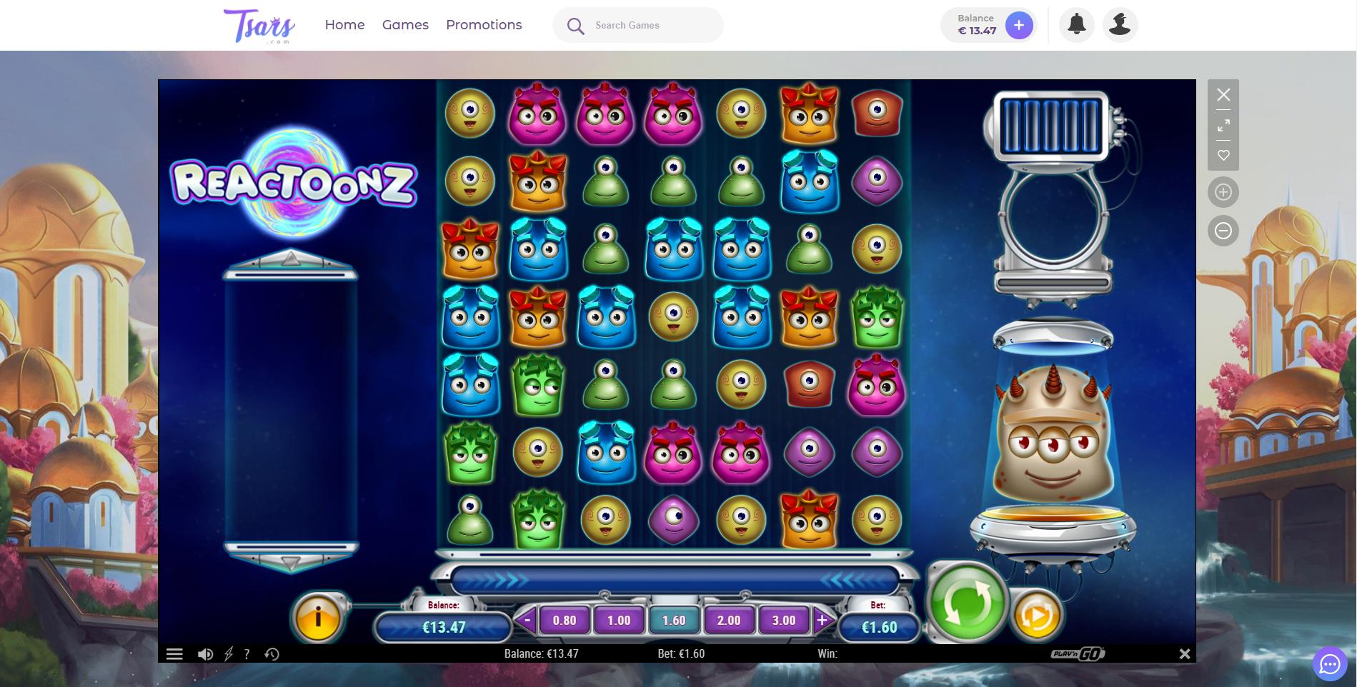 reactoonz play n go lošimo automatas tsars casino