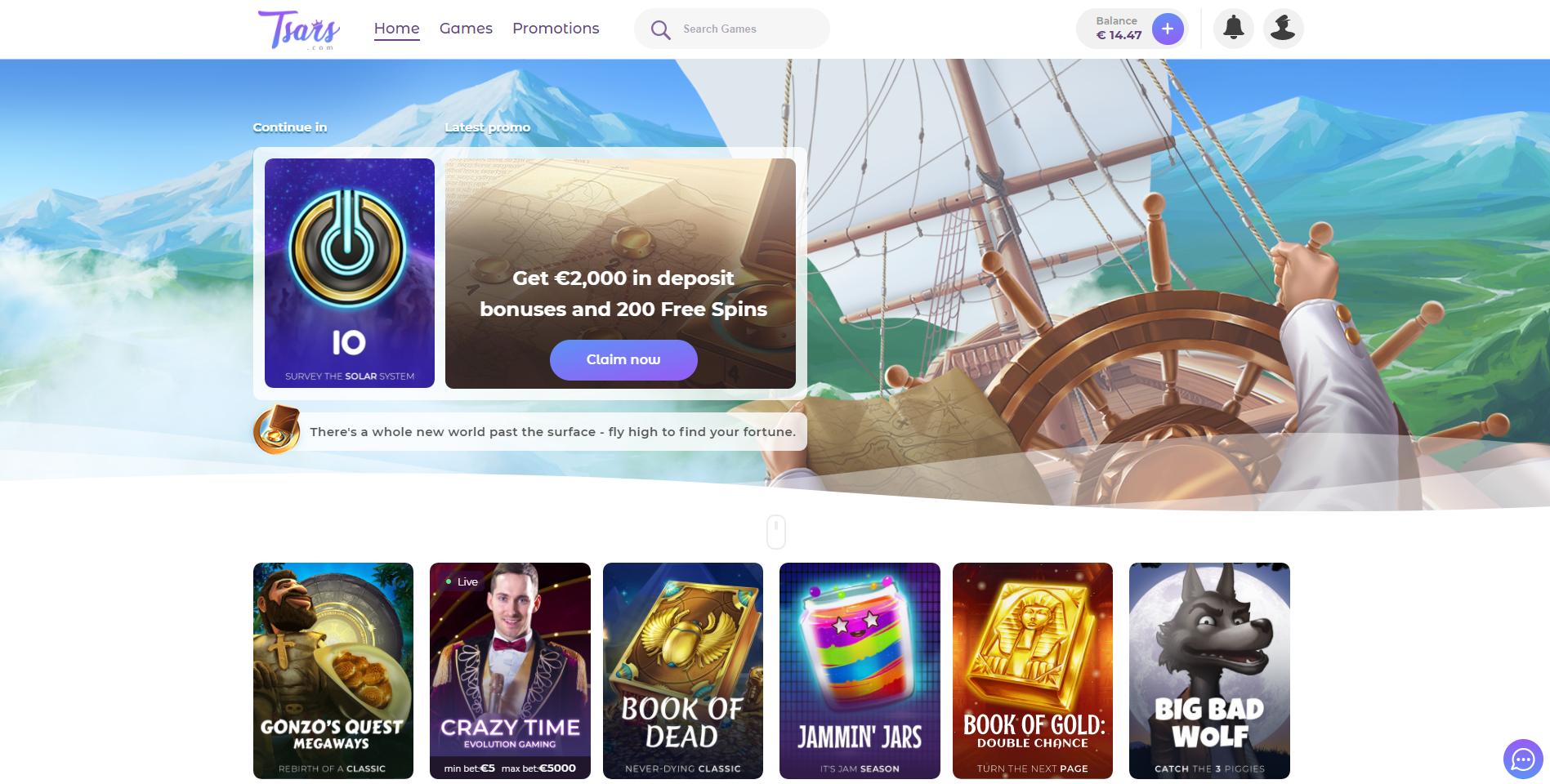 tsars casino žaidimų pasiūla kelionė nuotykiai pasaulio žemėlapis book of dead gonzo quest book of gold