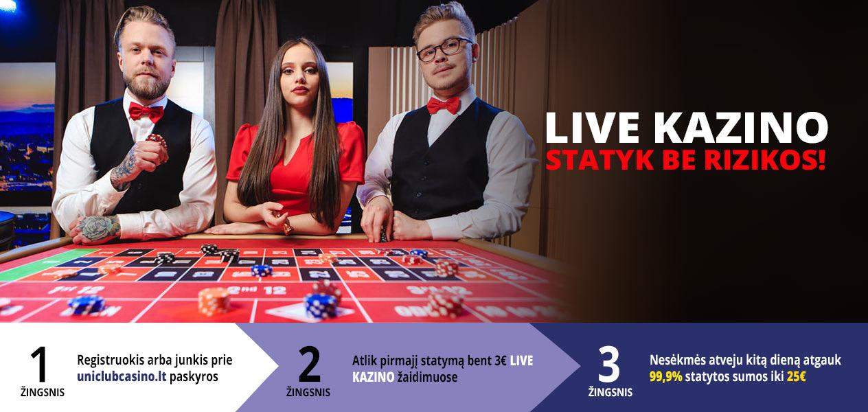uniclub casino live kazino be rizikos