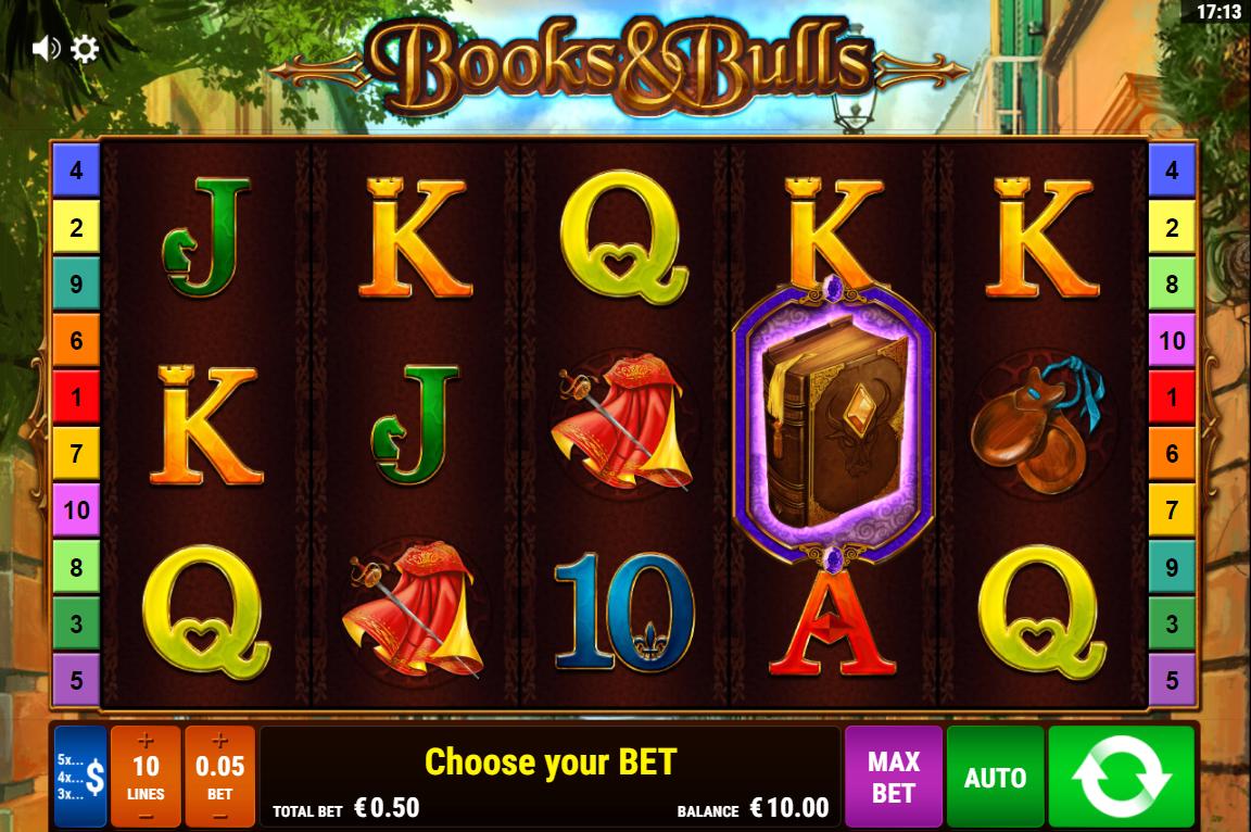 books & bulls gamomat lošimo automatas slot