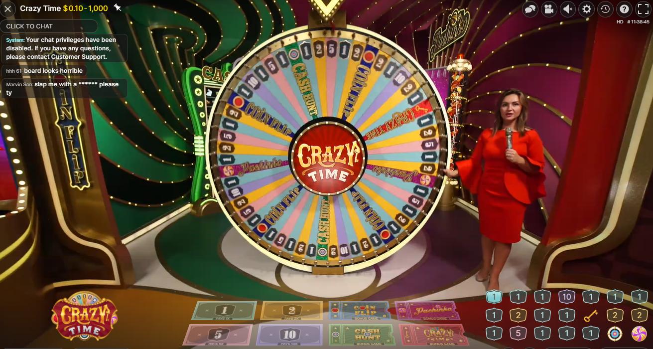 crazy time casino game evolution gaming kazino žaidimas crazy time big win